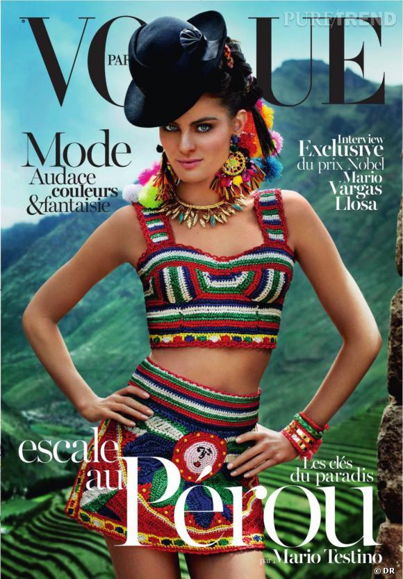 Vogue Paris avril spécial Pérou avec Mario Testino.