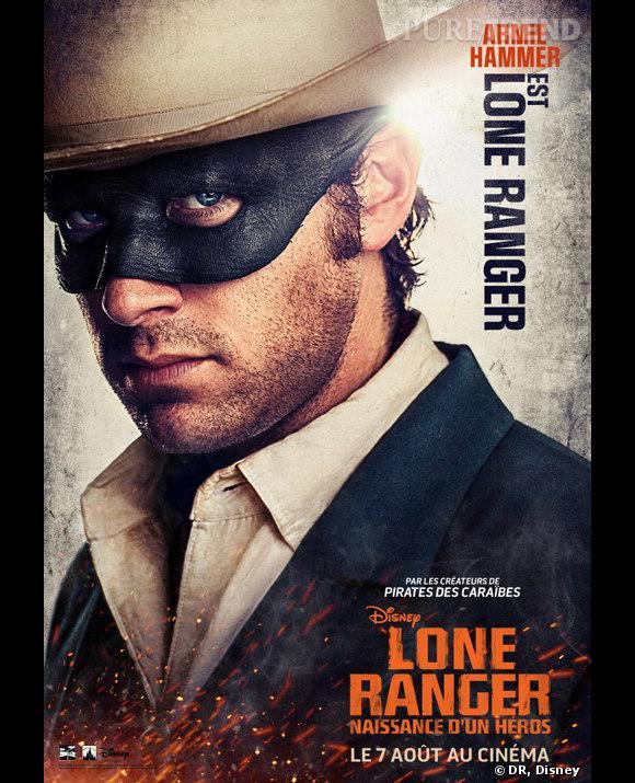 """Lone Ranger"", le poster avec Armie Hammer."