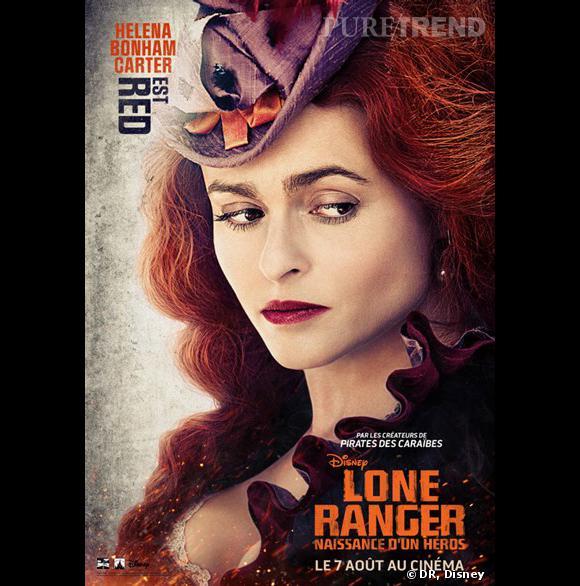 """""""Lone Ranger"""", le poster avec Helena Bonham Carter."""