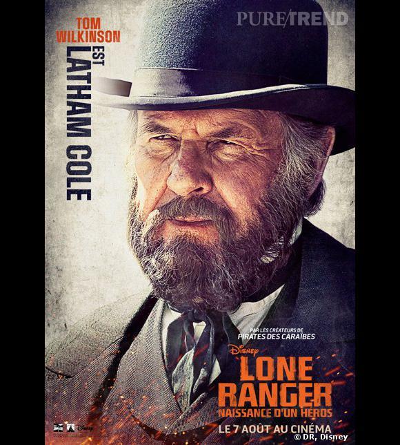 """""""Lone Ranger"""", le poster avec Tom Wilkinson."""