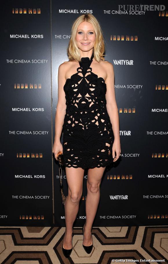 Le flop mini longueur  : Gwyneth Paltrow aime montrer ses jambes mais quand c'est dans une robe crochet, on dit non.