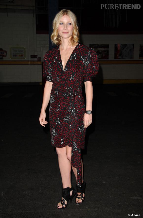 Le flop red carpet  : robe trop grande, couleur peu flatteuse, Gwyneth Paltrow rate le coche. Et ne parlons pas des chaussures.