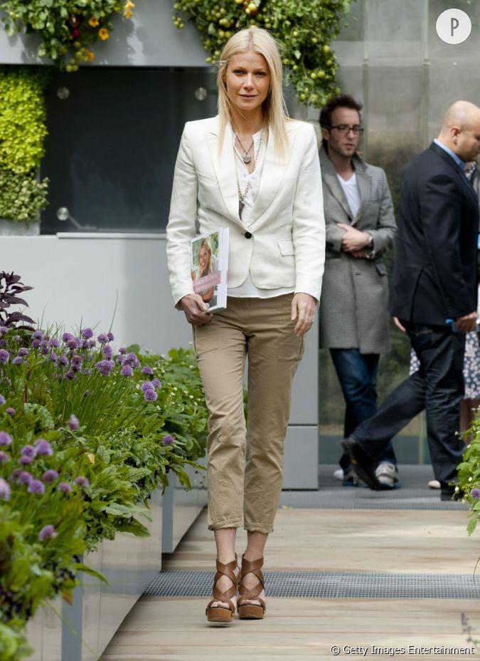 Le Top Street Style Citadine Et F Minine Gwyneth Paltrow Ose Le Pantalon 7 8e Pour Un Look