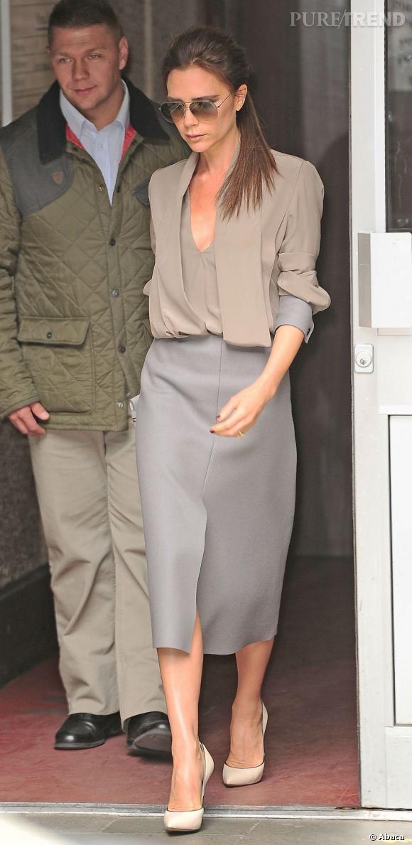 Victoria Beckham à la sortie du Vogue festival à Londres.