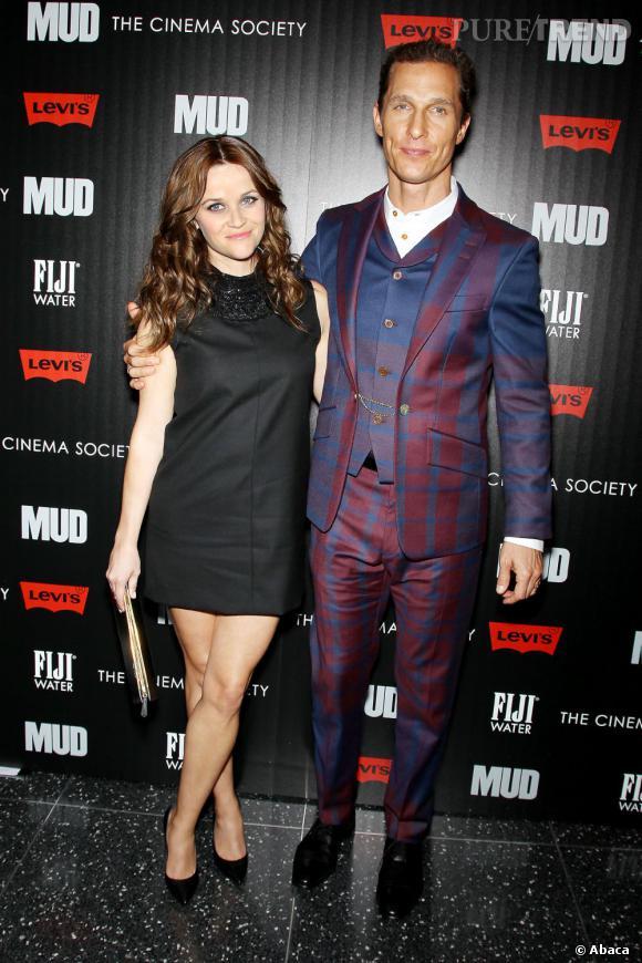 """Reese Witherspoon et Matthew McConaughey à l'avant-première du film """"Mud""""."""