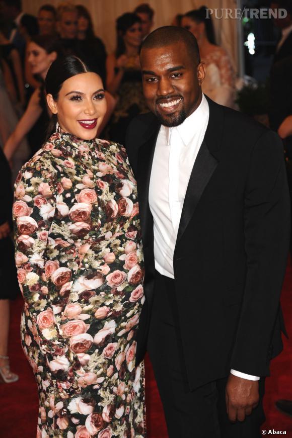 Kim Kardashian et Kanye West au MET Ball 2013 à New York.
