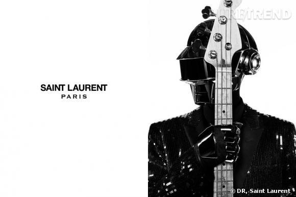 Daft punk, c'est aussi un look qui intrigue, ici relooké par Hedi Slimane.