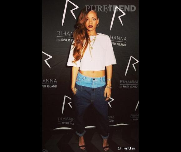 Rihanna, encore brune il y a quelques semaines.