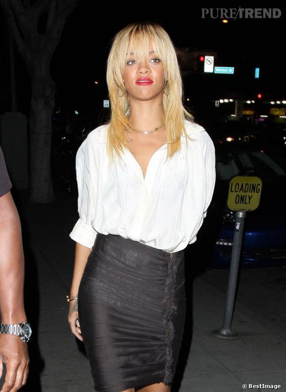 Rihanna en mode Blondie, l'année dernière.