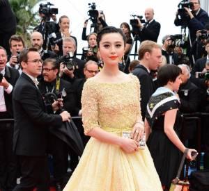 Fan Bingbing, princesse pastel en Elie Saab et bijoux Chopard.