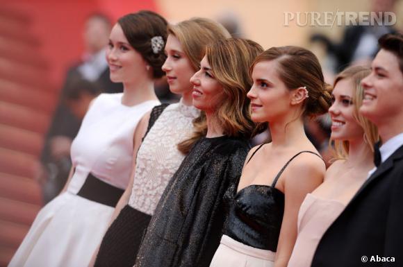 """Le casting de """"The Bling Ring"""" monte les marches de cette seconde journée de festival à Cannes."""