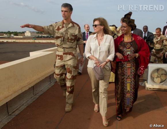 Valérie Trierweiler est partout : le 16 mai, elle était au Mali.