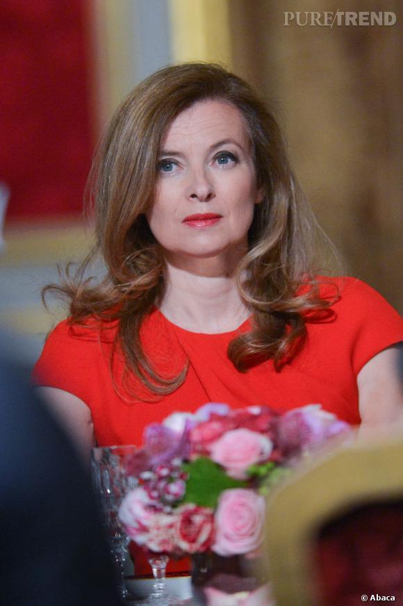 Valérie Trierweiler lors d'un dîner officiel à l'Elysée.