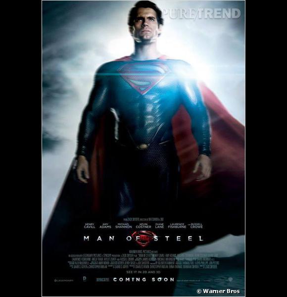 """Henry Cavill sur la nouvelle affiche de """"Man of Steel"""" : impressionnés ?"""