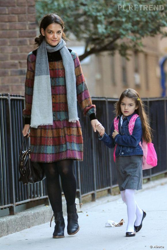 Katie Holmes et sa capricieuse petite Suri au style impeccable.