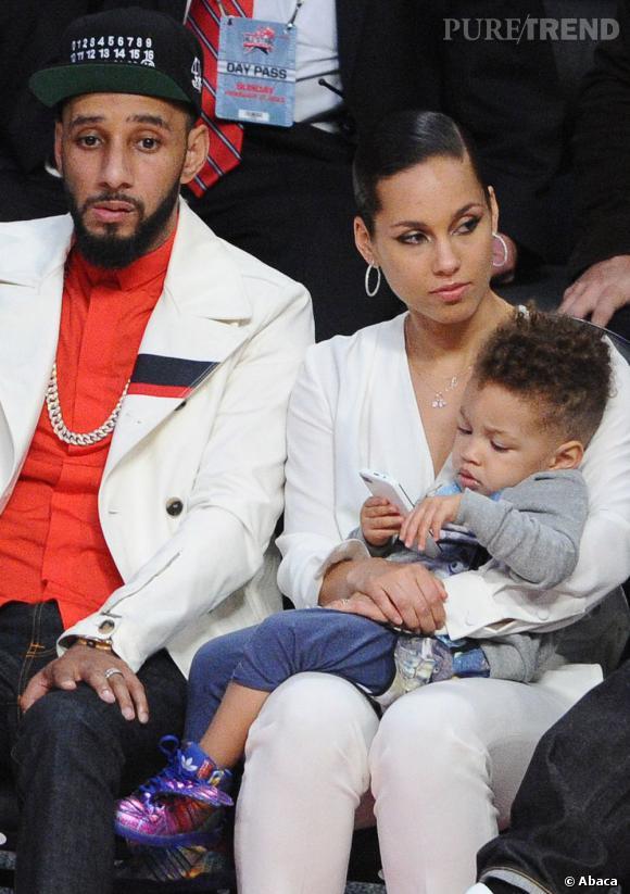 Alicia Keys et son petit Egypt à la coupe afro.
