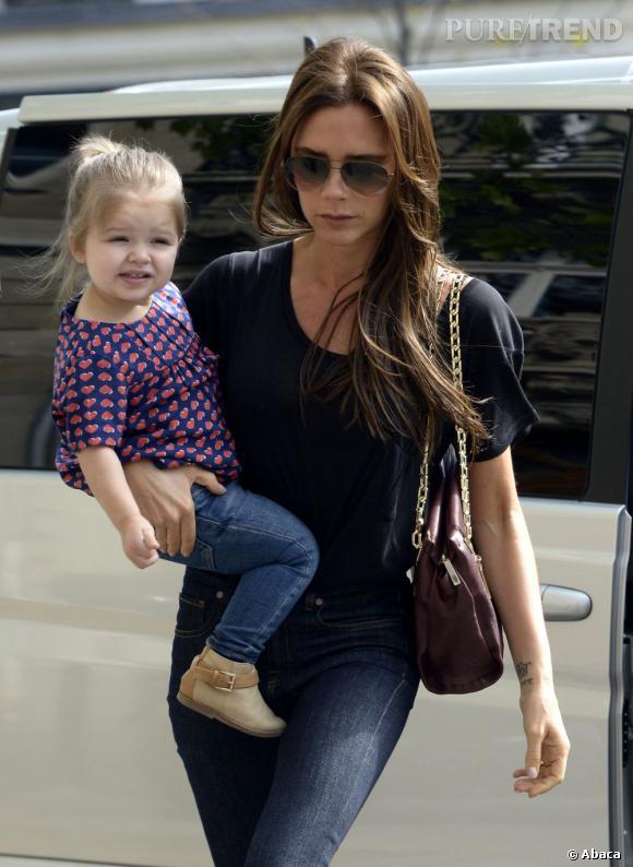 Victoria Beckham et la populaire Harper toujours si adorable.