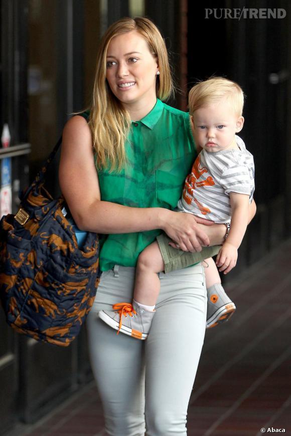 Hilary Duff aussi a hérité d'un petit boudeur nommé Luca.