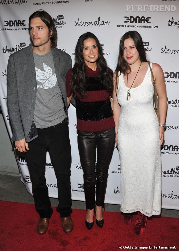 Demi Moore au côté de sa fille Scout Willis en 2011. Quand tout allait bien avec Ashton Kutcher.