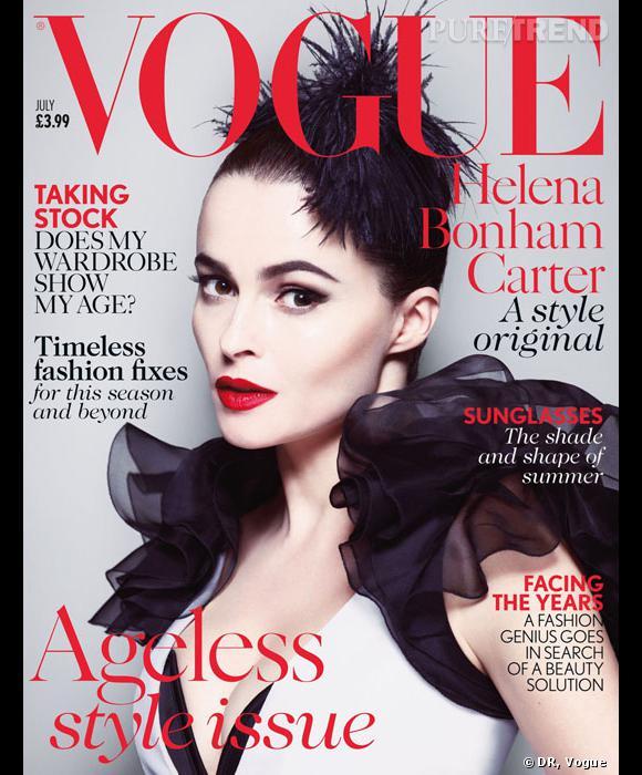 Helena Bonham Carter pour le Vogue UK du mois de juillet.
