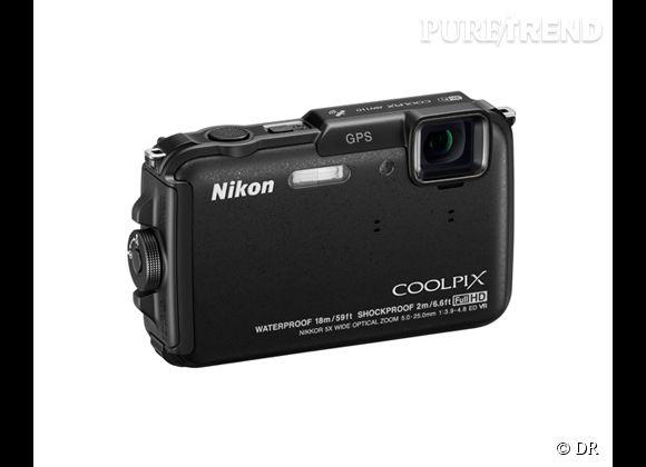 Fête des pères 2013 : notre sélection de cadeaux hype !    Nikon Coolpix AW110, 229 €    Caractéristiques :  Étanche jusqu'à 18 m de profondeur Anti-choc jusqu'à 2 m de hauteur Anti-gel jusqu'à -10 °C - Altimètre et profondimètre GPS et affichage de la carte du monde Wifi intégré