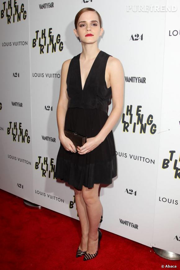 """Emma Watson a fait une apparition élégante et avec une allure folle pour la première de """"The Bling Ring"""" à New York, le 11 juin 2013."""