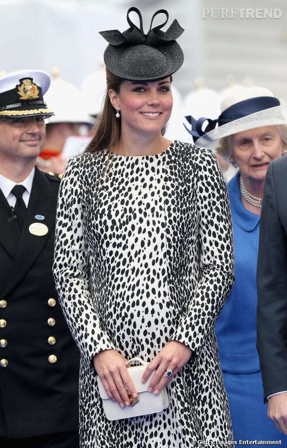 """Kate Middleton était sauvage et féminine pour sa dernière sortie officielle lors de l'inauguration du """"Royal Princess"""" à Southampton, le 13 juin 2013."""