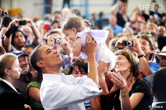 Barack Obama, même les bébés sont séduits par son charisme indéniable !