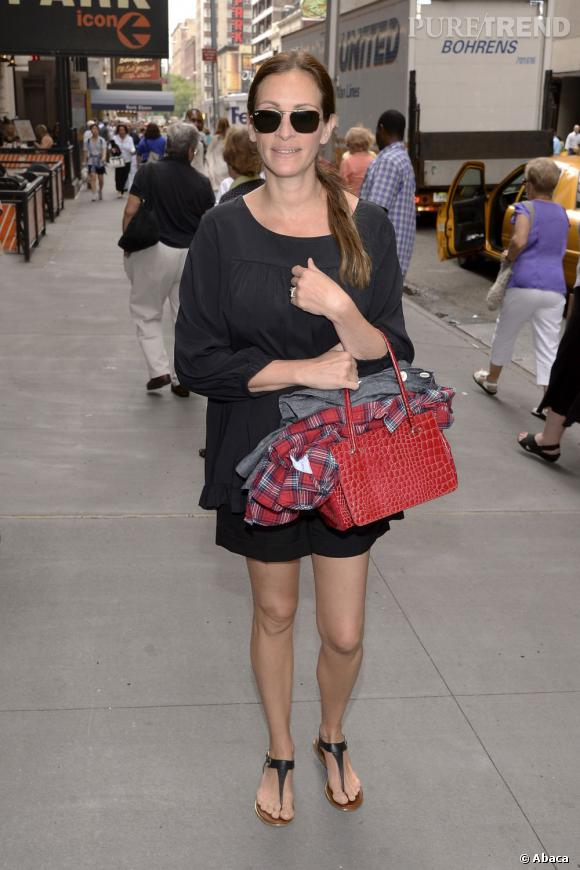 Julia Roberts à New York, une blouse fluide pour l'actrice.
