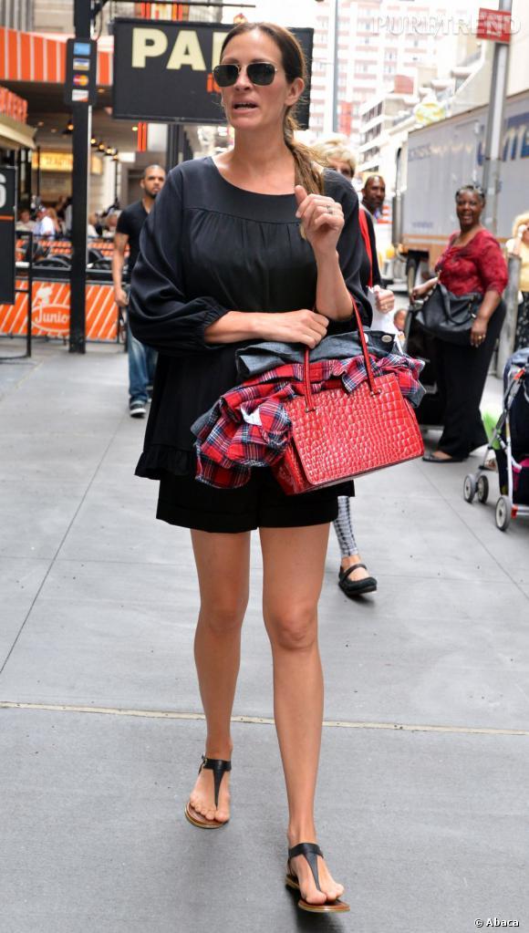 Julia Roberts à New York : une actrice discrète qu'on ne peut pas s'empêcher de remarquer lorsqu'elle est de sortie.