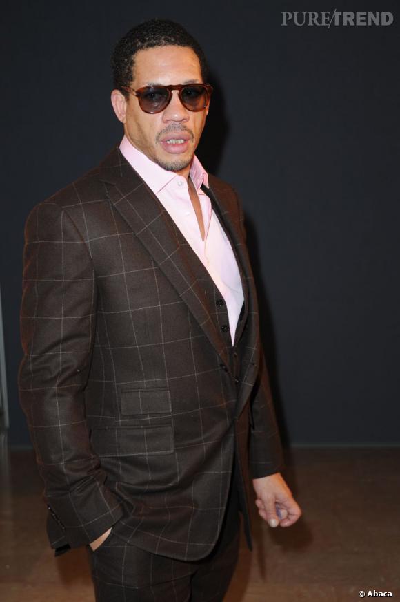 Grande classe pour Joey Starr au diner de la Mode contre le Sida en janvier 2013.