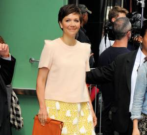 "Maggie Gyllenhaal à New York pour la promotion de ""White House Down""."