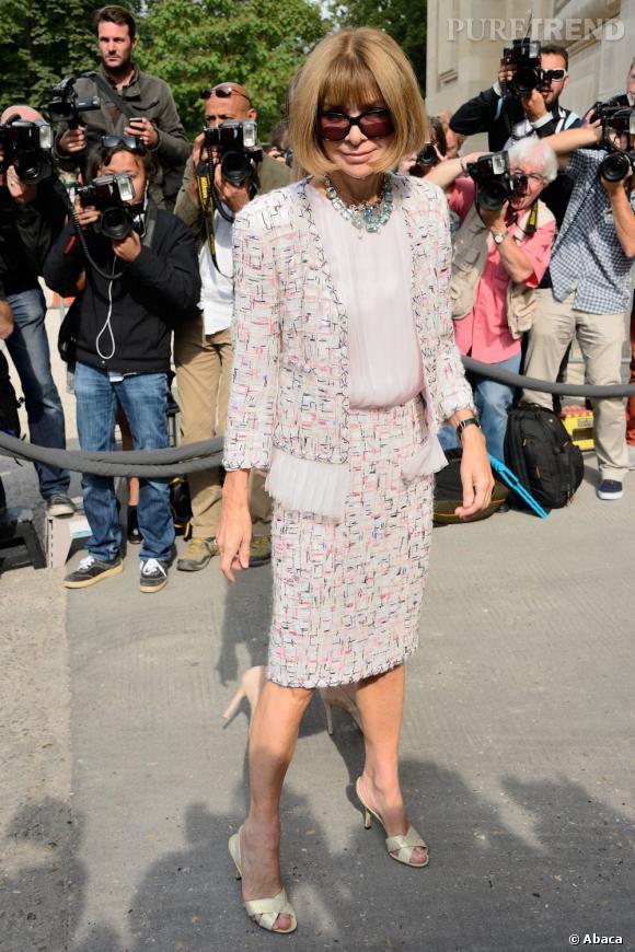 Anna Wintour au défilé Chanel Haute Couture Automne Hiver 2013-2014.