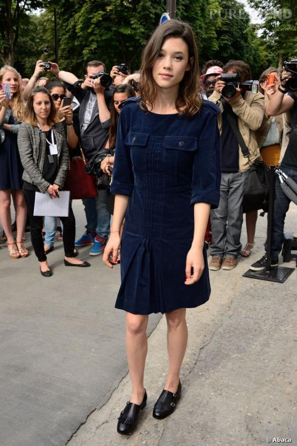 Astrid Bergès-Frisbey, divine au défilé Chanel Haute Couture Automne Hiver 2013-2014.