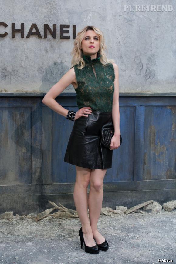 Cécile Cassel au défilé Chanel Haute Couture Automne Hiver 2013-2014.
