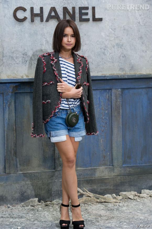 Miroslava Duma au défilé Chanel Haute Couture Automne Hiver 2013-2014.