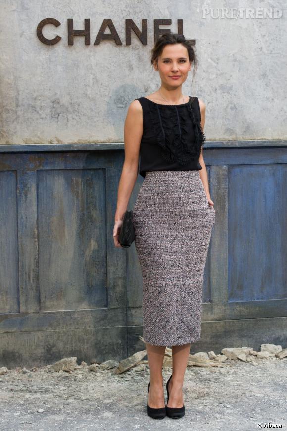 Virginie Ledoyen au défilé Chanel Haute Couture Automne Hiver 2013-2014.