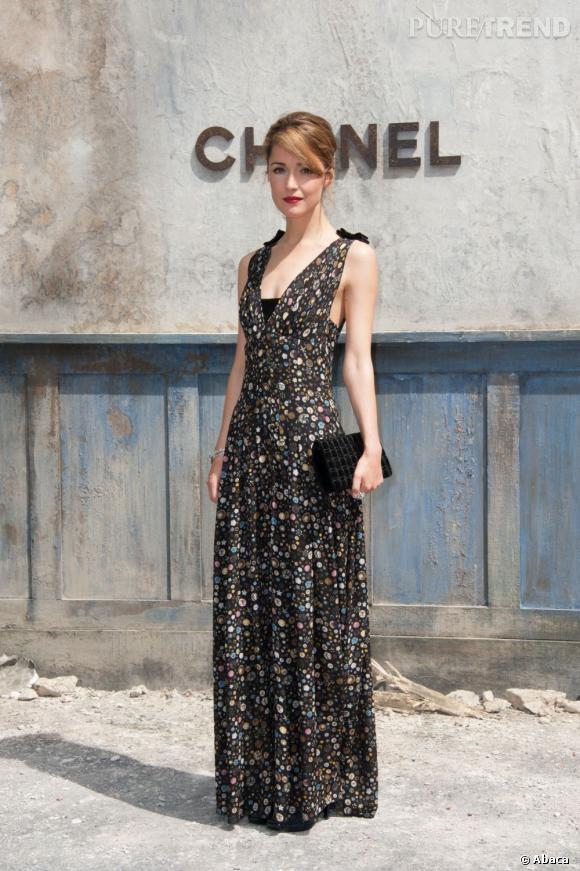 Rose Byrne au défilé Chanel Haute Couture Automne Hiver 2013-2014.