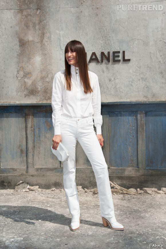 Caroline de Maigret, immaculée au défilé Chanel Haute Couture Automne Hiver 2013-2014.