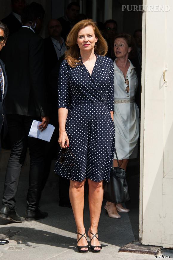 Valérie Trierweiler au défilé Chanel Haute Couture Automne Hiver 2013-2014.