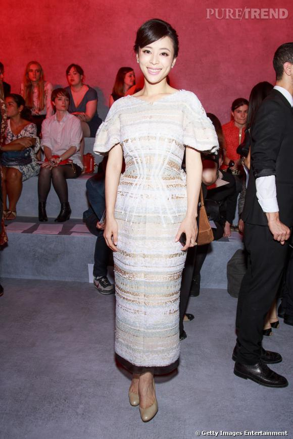 Pace Wu au défilé Ulyana Sergeenko Haute Couture Automne Hiver 2013-2014.