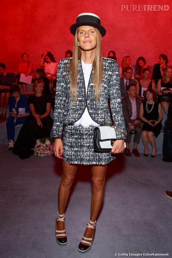 Anna Dello Russo au défilé Ulyana Sergeenko Haute Couture Automne Hiver 2013-2014.