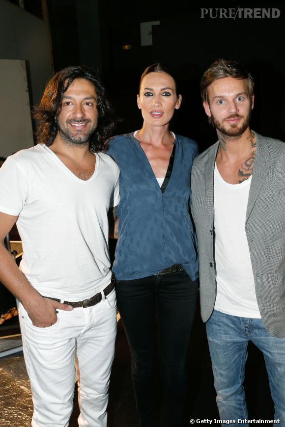 Rafael Amargo, Nieves Alvarez et Matt Pokora au défilé Stéphane Rolland Haute Couture Automne Hiver 2013-2014.
