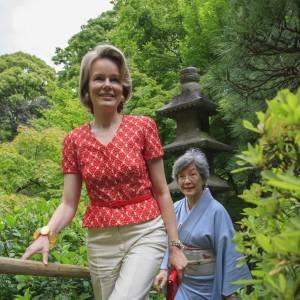 La Princesse Mathilde de Belgique en visite au Japon.