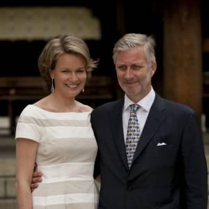 La Princesse Mathilde de Belgique et son époux, le Prince Philippe de Belgique.