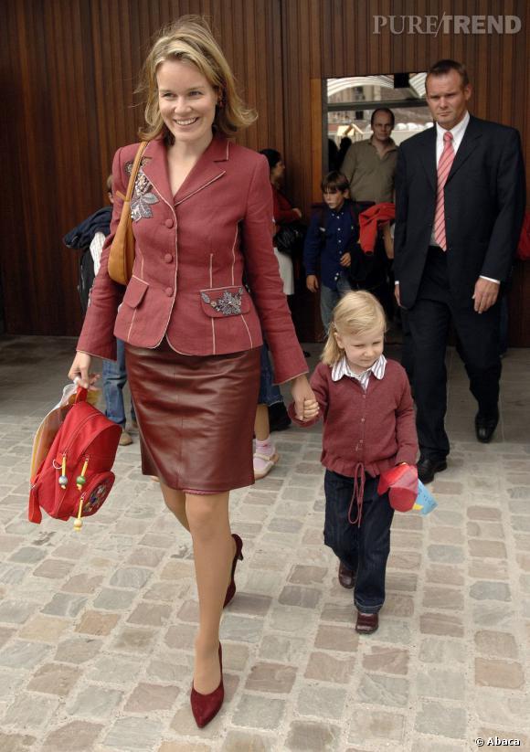 La Princesse Mathilde de Belgique et sa fille Elisabeth en 2006.