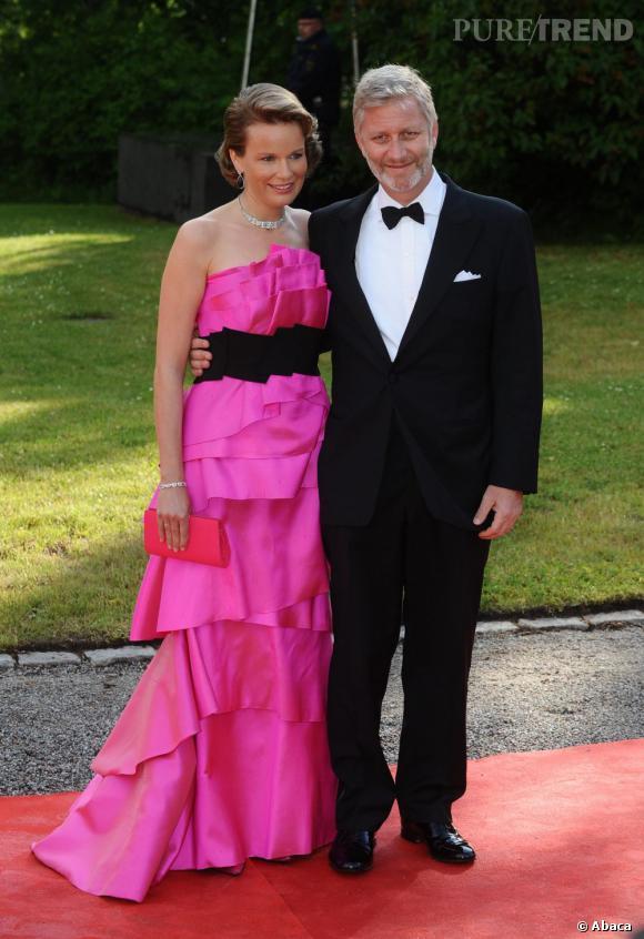 La Princesse Mathilde de Belgique et son mari le Prince Philippe de Belgique.