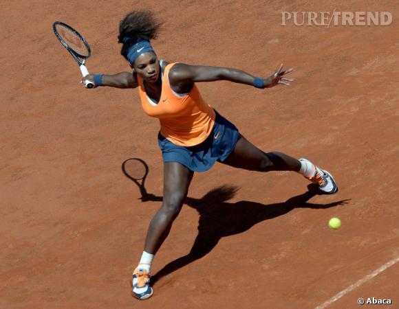 Serena Williams sur le court...