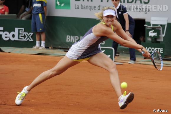 Maria Sharapova sur le court...