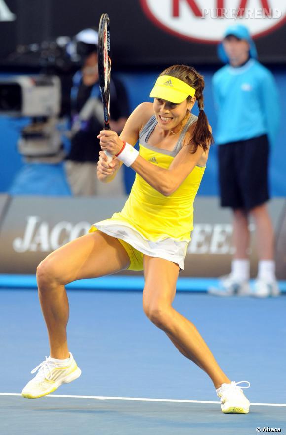 Ana Ivanovic sur le court...